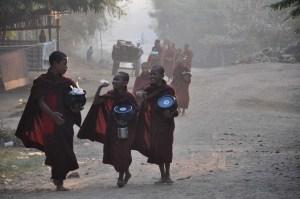 Monks going for breakfast